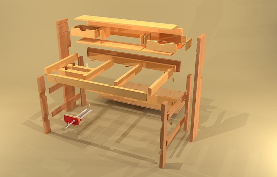Made By Design Folding Workbench Plans