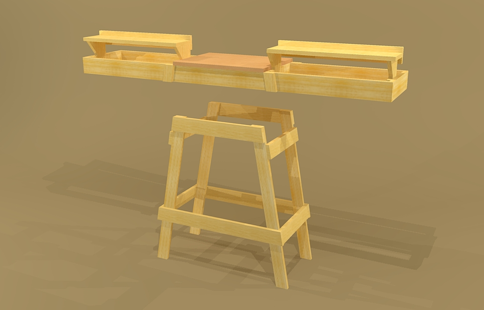 Kane: Detail Free plans for table saw stand