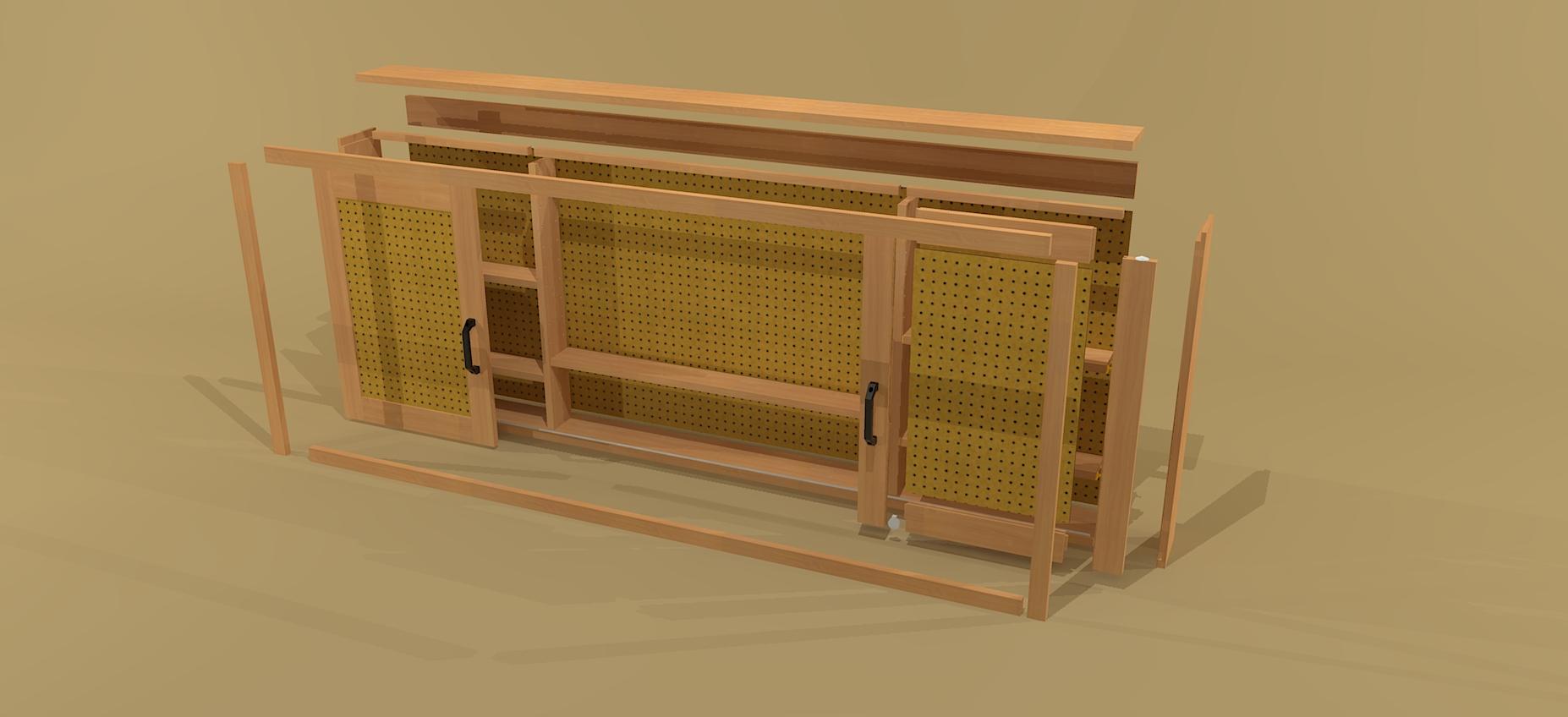 Pegboard Tool Cabinet